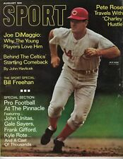 1968 AUG Sport Magazine,Baseball, Pete Rose, Cincinnati Reds ~No Label~ FAIR