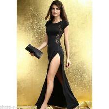 Vestido largo de mujer de color principal negro encaje