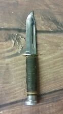 Vintage Kabar Knife Combat Stacked Leather
