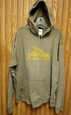 Patagonia Men's Organic Cotton Flying Fish Tan Pullover Hoodie Sweatshirt Sz XL