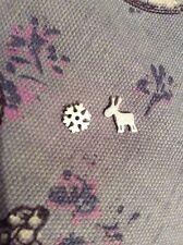 FREE GIFT BAG Reindeer Deer Snowflake Silver Plated Stud Earrings Xmas Jewellery