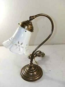 Lamp For Bedside Table Bedroom Brass Burnished Lampshade Ceramic,