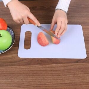 Plastic Chopping Slicing Board Rectangular White Cutting Meat Food Worktop Saver