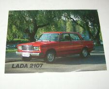 Prospekt / Broschüre Lada 2107 - VAZ 2107 !