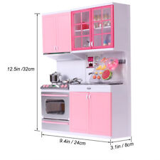Mini modern Kitchen Pretend Play Cooking Set Toy for Kids Baby Children Pink