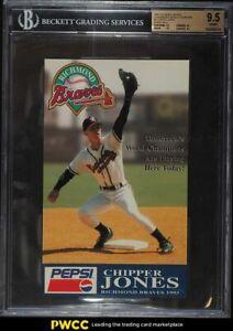 1996 Richmond Braves Tomorrow's World Champions Chipper Jones BGS 9.5 GEM MINT