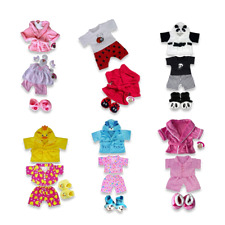 More details for teddy bears clothes pjs dressing gown slippers fit build a bear boys girls gift