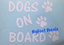Pet Decal Dogs On Board Paw Prints Rescue Adopted Puppy Lab Window Car Sticker