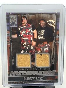 2002 Fleer WWF WWE All Access The Dudley Boyz Dual Table Relic!