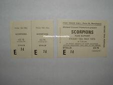 SCORPIONS Unused EXC-NM 1979 Concert Ticket MANCHESTER U.K. FREE TRADE HALL Rare