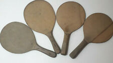 Four Vintage Wooden Wiff Waff , Ping Pong, Table Tennis, Two solid paddles, Bats