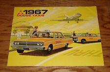 Original 1967 Dodge Taxi Sales Brochure 67 Coronet Polara 318