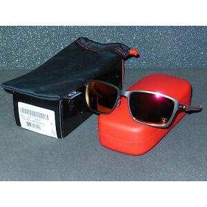 New Oakley Tincan Carbon Ferrari Sunglasses Carbon/Ruby Iridium Tin Can Metal
