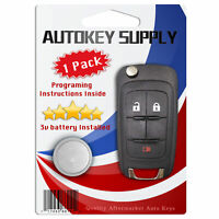 New Replacement for GM 2010 - 2017 Remote Flip Key Fob 3B OHT01060512