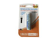 Batteria Ricaricabile LINQ 18650 a Litio da 3200 mAh 3,7V Circuito di Protezione
