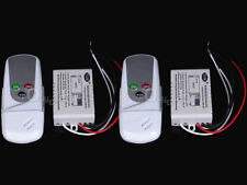 2x Wireless 1Way ON/OFF Switch Digital Wall Light Remote Control Switch Receiver