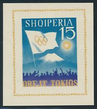 "ALBANIA 1964, Block 22-23 **/MNH, ""olympic games Tokyo"", very fine,"