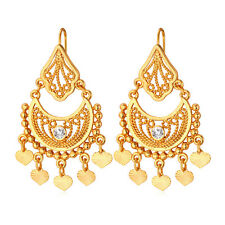 Yellow gold plated chandelier fashion earrings for sale ebay 18k gold plated vintage tribal dangle earrings bohemian boho chandelier earrings aloadofball Gallery