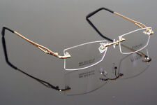 5dd81d8b5c95 Memory Titanium Eyeglass Frame Silver Rimless Optic Glasses Spectacles RX  Able