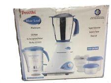 Preethi Blue Leaf Platinum 550 Watts 3 Jar Indian Mixer Grinder 110 Volts