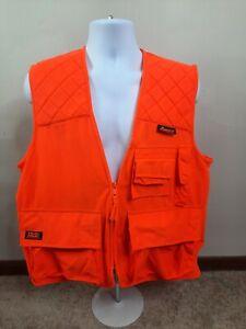 Mountain Prairie Men's Blaze Orange Hunting Shooting Vest Size M Hush Hide Soft