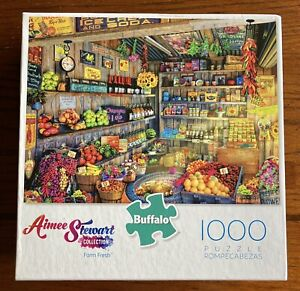 Aimee Stewart Farm Fresh Buffalo Games Puzzle 1000 Pieces w/UNUSED Poster NICE