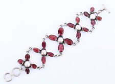 64 GRAMS RUBY .925 SOLID STERLING SILVER BRACELET #23877