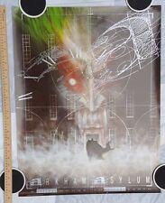 Dave McKean BATMAN ARKHAM ASYLUM Promo Poster Grant Morrison 1989 w/ SILVER INK