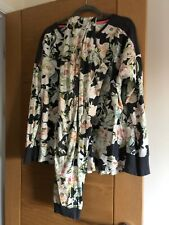 EX Marks /& Spencer quadretti Revere Colletto Donna Pigiama Rosa-color navy taglia 6-22