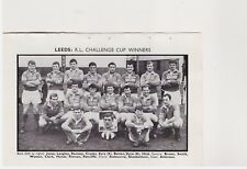 Team Pic from 1968-69 Football Annual - Leeds + Wakefield Trinity - Rugby Union
