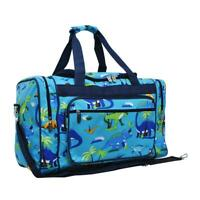 "Canvas 20"" carry on airplane/duffle/gym/overnight Travel bag NGIL Dinosaur T-Rex"
