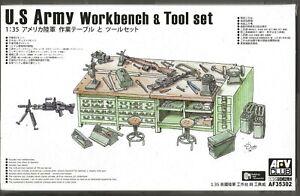 AFV CLUB US ARMY Workbench & Tool Set in 1/35  302  ST