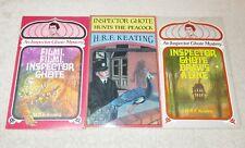 H.R.F. KEATING lot of 3 Inspector Ghote novels - Filmi, Filmi + Draws A Line +