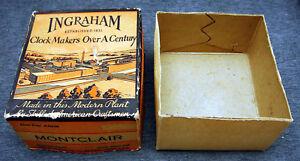 Vintage Ingraham Montclair Alarm Clock Box