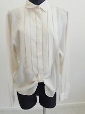 $1,035 Bottega Veneta Ivory Cream Mid-Buttons Long Sleeve Shirt EUR 46/ US 10
