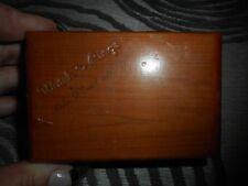 Vintage Wooden Watch & Rings box Lake Placid NY