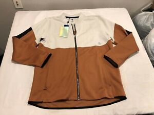 NWT $110.00 Under Armour Mens Recover Knit Warm Up Jacket Copper / White Size XL