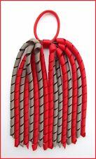 RED DARK GREY SCHOOL UNIFORM KORKER CORKER HAIR PONYTAIL LONG STREAMER