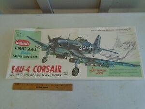 GUILLOWS 1004 F4U-4 CORSAIR GIANT SCALE BALSA FLYING MODEL KIT-NIB-1:16 SCALE