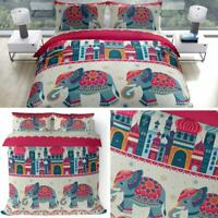 Elephants Duvet Covers Bright Arabian Nights Asian Quilt Cover Bedding Sets
