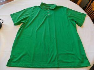 George Golf Men's Short Sleeve Polo Shirt Size XL 46/48 Green Striped GUC