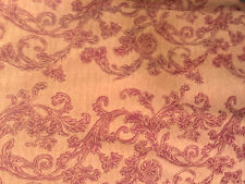 Stoff, DesignerStoff, Struktur, Ziegelfarbe, 100% Baumwolle, Jaquard, Ornament