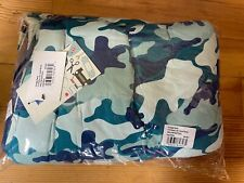 New listing New Kickee Pants Sherpa Toddler Blanket in Oasis Military Print