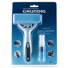 GRUNDIG 2 PIECE COMPUTER SCREEN LCD CLEANING GEL AND BRUSH SET DUST DIRT REMOVER