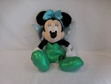 Disneyland parks Theme Minnie Mouse Tinkerbell Stuffed Plush Green 16""