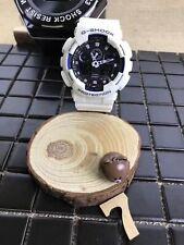Casio G-Shock Cronógrafo de pantalla doble correa de resina Caballeros Hombre Reloj GA-100B-7AER