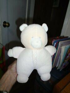 """Vintage Eden Baby Bear Pink Thermal Knit Sewn Eyes Rare Haiti Stuffed Animal  8"""""""