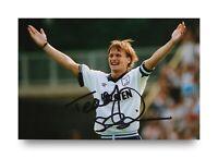 Teddy Sheringham Hand Signed 6x4 Photo Tottenham Hotspur England Autograph + COA