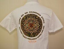 Tulum Mexico t-shirt white medium Aztec Piedra Del Sol Yucatan Caribbean
