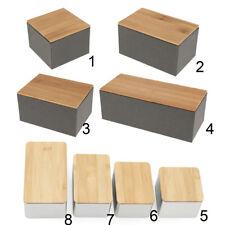 Kraft Paper or Metal Tea Storage Box Coffee Tea Storage Jar with Bamboo Lid